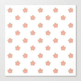 Polka Flower Spring Dots Canvas Print