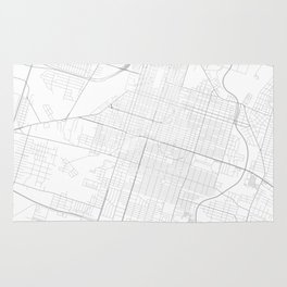 Savannah, United States Minimalist Map Rug