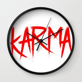 Karma Yoga Meditation Gift Mother's Day Wall Clock