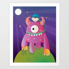 Monster pet Art Print
