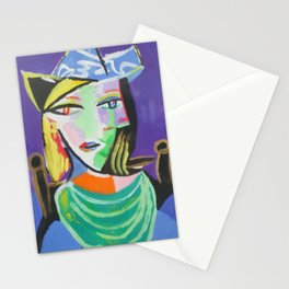 Picasso style-double faces II Stationery Cards