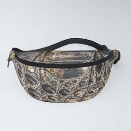American alligator Leather Print Fanny Pack