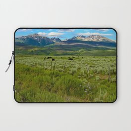 Colorado cattle ranch Laptop Sleeve