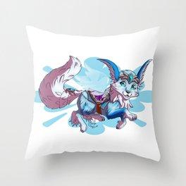 Vulpine mount Throw Pillow