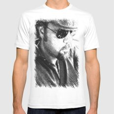 Me MEDIUM White Mens Fitted Tee