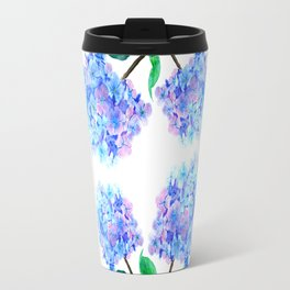 blue purple hydrangea Travel Mug