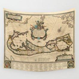 Map of Bermuda 1662 Wall Tapestry