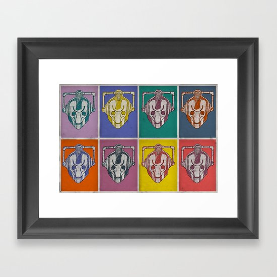 Warholian Cybermen (Doctor Who) Framed Art Print