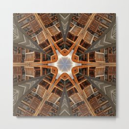 wood star Metal Print