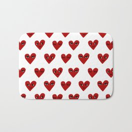 Heart love valentines day gifts hearts with faces cute valentine Bath Mat