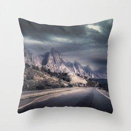 Storm over Babylon Throw Pillow
