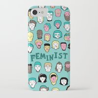 feminist iPhone & iPod Cases featuring Feminist by F-ordet