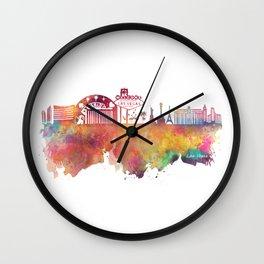 Las Vegas skyline Wall Clock