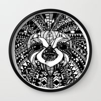 sloth Wall Clocks featuring Sloth by Emma Barker
