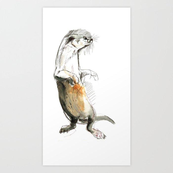 Totem Neotropical otter (c) 2017 Art Print