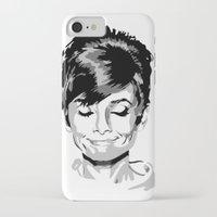 audrey hepburn iPhone & iPod Cases featuring Audrey Hepburn by Joe Shmo