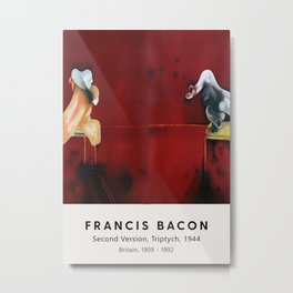 Francis Bacon - Second Version, Triptych, 1944 - Vintage Exhibition Poster, Gallery Print, Museum Print Metal Print