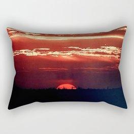 Burning Southern Setting Sun Rectangular Pillow