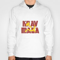 soviet Hoodies featuring Krav Maga Russia Soviet Union by crouchingpixel