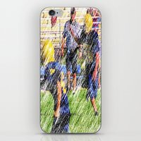 football iPhone & iPod Skins featuring Football by Artist31