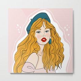 Curly Girl Metal Print