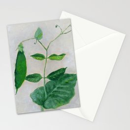 Pea Plant Grows in the Garden Stationery Cards