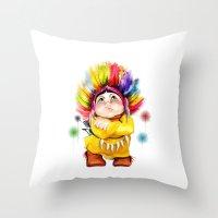 indian Throw Pillows featuring Indian  by tatiana-teni