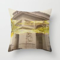 fault Throw Pillows featuring The Fault in Triumph by ZEROCOOOOOL