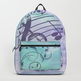 Music Notes Flutter Backpack