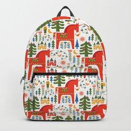 Scandinavian Folkstory - Red + Green Backpack