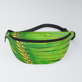 Coconut Frond in Green Aloha Fanny Pack