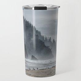 Hills And Mist At Proposal Rock Travel Mug