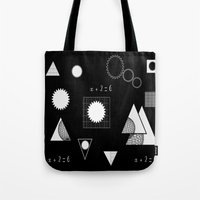 math Tote Bags featuring math by BruxaMagica_susycosta