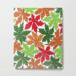 Leaves pttern Metal Print