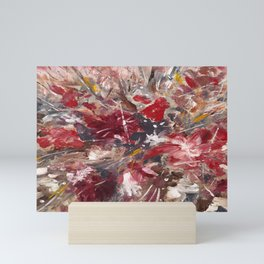 Red Emotion Abstract Flowers  Mini Art Print
