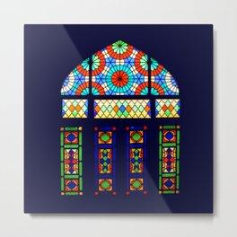 Stained Glass Window, Nasir-al-Molk Mosque Shiraz Iran Metal Print