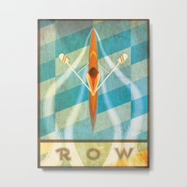 The Serenity of Sculling Metal Print