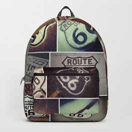 Historic U.S.  old Route 66. Backpack