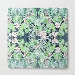 Dark Tropics Pattern by Kristen Baker Metal Print