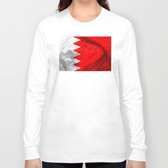 Bahrain Flag Long Sleeve T-shirt