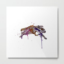 Geometric Rabbit Metal Print
