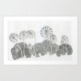 shroomies Art Print