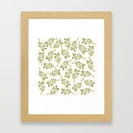 Green Foliage – Floral Heart Collection Framed Art Print