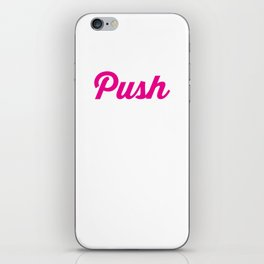 Push Yourself Workout Graphic T-shirt iPhone Skin