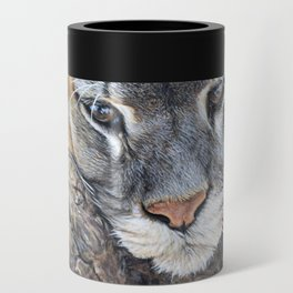Just Chillin - Cougar Painting by Alan M Hunt Can Cooler