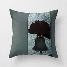 Bell over Santorini Throw Pillow