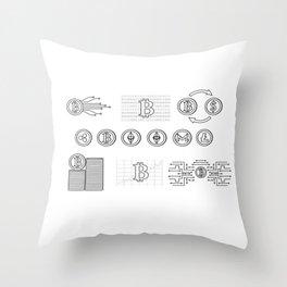 Bitcoin Transactions Throw Pillow
