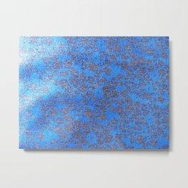 Blue Leopard Print Metal Print