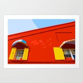 Barbados Shutters (Art Version) Art Print