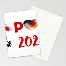 Climbing team of Germany in Tokyo Stationery Cards